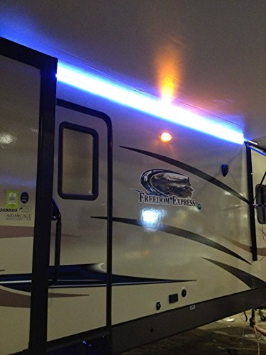 RecPro RV White LED Awning Party Light w/Mounting Channel & Black PCB 12v Light (12')