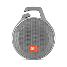 JBL Clip+ Portable Bluetooth Speaker, Gray
