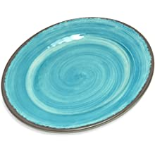 "Carlisle 5400715 Mingle Melamine Bread & Butter Plate, 7"", Aqua (Set of 12)"