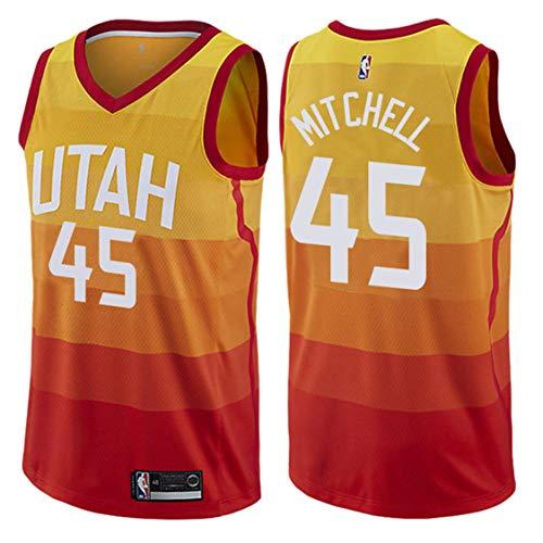 Original intention Men's Mitchell Utah #45 Orange 2018/19 Swingman Jersey – City Edition