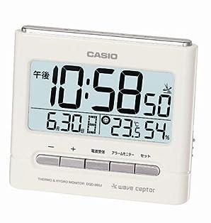 CASIO (カシオ) 置き時計 WAVE CEPTOR ウェーブセプター 電波時計 温度表示 湿度表示 DQD-660J-7JF