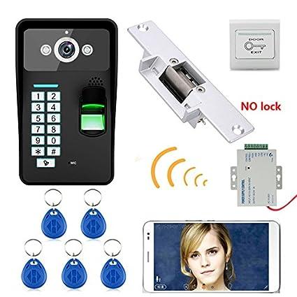 HD 720 P Inalámbrico WIFI Contraseña RFID Video de La Puerta Del Timbre Del Teléfono Sistema