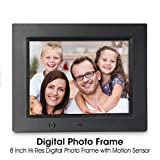 Digital Photo Frame, Wireless Mouse Control, 8 inch LCD Wi-Fi Cloud Digital Rahmen Photo Viewer with Motion Sensor & 720p HD Video & Music Playback, INSMA
