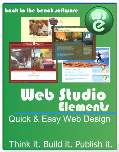 Web Studio Elements Quick & Easy Web Design [Download] by Back to the Beach Digital