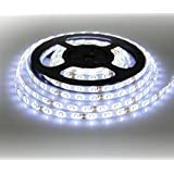 Susay® LED Strip light, Waterproof LED Flexible Light Strip 12V with 300 SMD LED, 2835 Cool White. 16.4 Foot / 5 Meter. With 3M