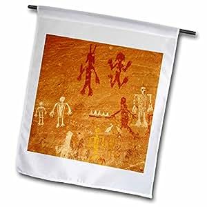 3dRose Danita Delimont–petroglifos–petroglifos, Canyon de Chelly, az–US03kpi0010–Kristin Piljay–banderas