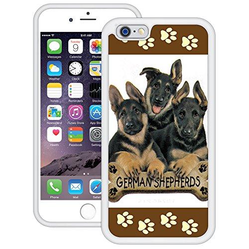 Deutscher Schäferhund | Handgefertigt | iPhone 6 6s (4,7') | Weiß TPU Hülle