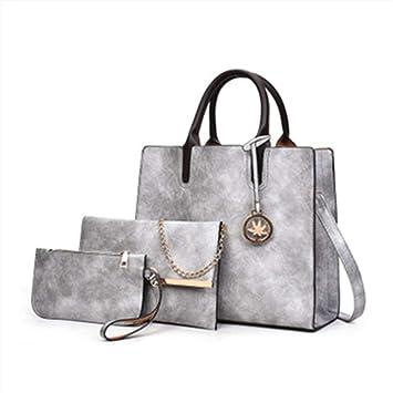 611044f9454 Bolso CE Bandolera para Mujer Bolsos de Mano Cuero Shopper Tote Handbag de  Hombro Carteras Conjunto