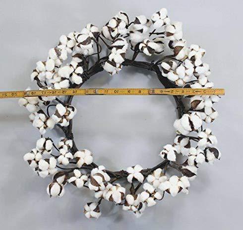 - Mikash Real Cotton Wreath 18 28 Adjustable Stems Farmhouse Wedding Centerpiece | Model WRTH - 740