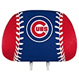 ProMark Chicago Cubs Printed Full Color 2-Pack Head Rest Covers Elastic Auto Baseball