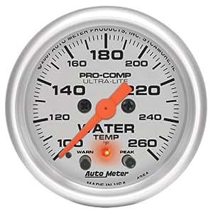 Auto Meter 4354 Ultra-Lite Electric Water Temperature Gauge