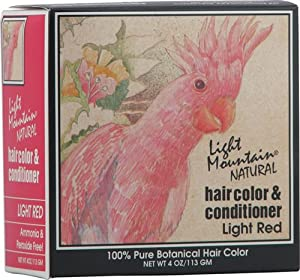Light Mountain Natural Hair Color and Conditioner Light Red -- 4 fl oz