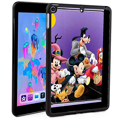 DISNEY COLLECTION Protective Case Compatible 2018 iPad Mini 5 (2018) 7.9in Halloween Mickey Mouse and Minnie Mouse Goofy Donald Duck Pluto Disney Halloween Wallpaper