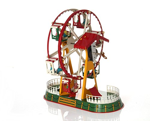 Ferris Wheel with Clockwork Drive - Mechanical Tin Toy by WPS