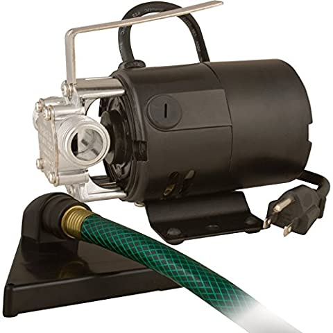 Star HPP360 Portable Transfer Water Pump with Suction Hose and Strainer - 115V Electric Utility - Bronze Transfer Pump