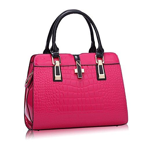 Rosered Handbags Casual Bag Leather Fashion Messenger Female Patent Women's Bag zq14Aqv
