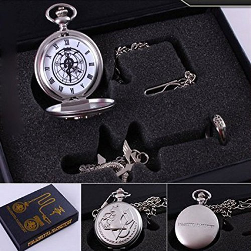 Oliadesign Fullmetal Alchemist Anime Pocket Watch  Necklace   Ring