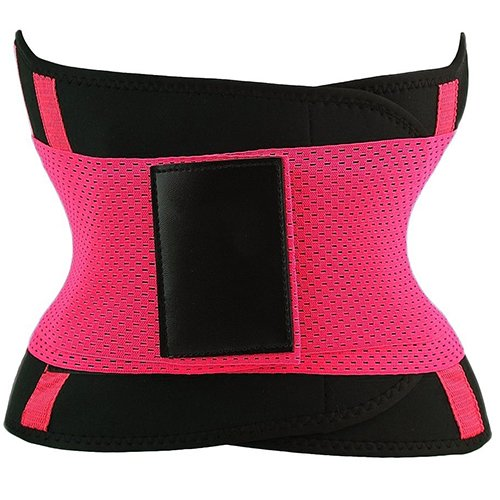 PU Health Pure Acoustics Compression Dual Strap Waist Trainer Fitness Belt for Slimming, Pink, 0.65 Pound