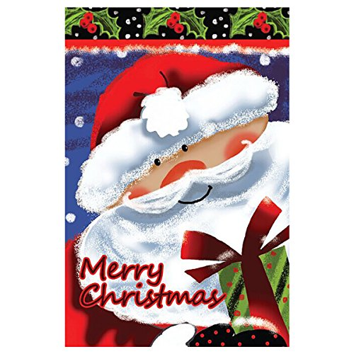 JOYPLUS Snowman Christmas Garden Flag,Yard Flag Indoor Outdoor Home Decor Christmas Santa Claus Flag...