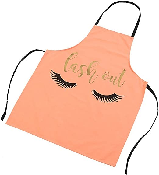 Eyelashes Gold Kitchen Apron For Cooking Baking High-grade Cotton Fashion Linen