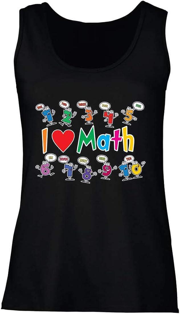 lepni.me Camisetas sin Mangas para Mujer Amo Las matemáticas, el Regalo Educativo de Regreso a la Escuela o la graduación