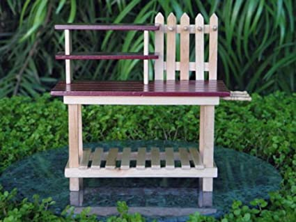 Superieur Miniature Dollhouse FAIRY GARDEN Furniture Wood Workbench Potting Table By  I.E.Y.online Store
