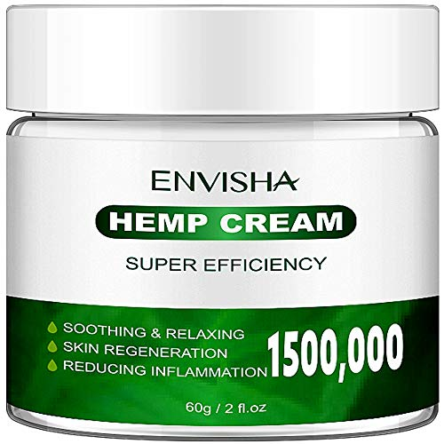 ENVISHA Hеmp Extract Cream, Elbows - Back, Knees, Neck, Fingers, Good for Skin Health