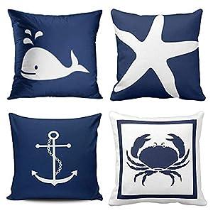 51fvuadHBTL._SS300_ 100+ Nautical Pillows & Nautical Pillow Covers
