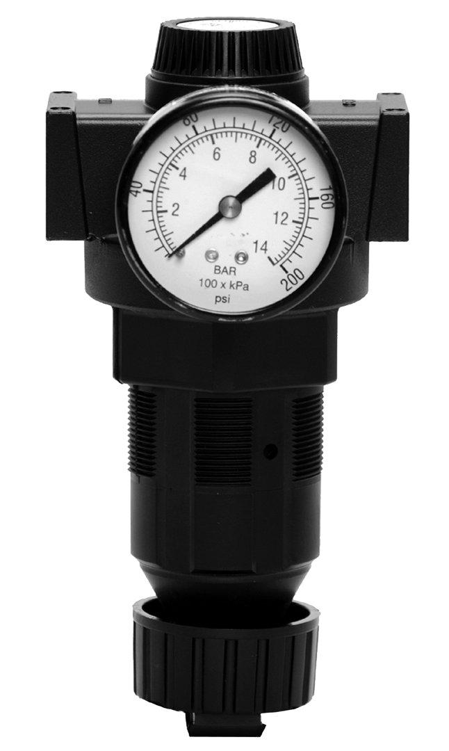 Gauge 0-3.4 0 psi 0 psi Standard Flow 0-13.8 50 psi Self-Relieving Pressure Range Ross Controls 5212B4017 Full-Size Series Diaphragm Regulator Knob Adjustment 200 psi
