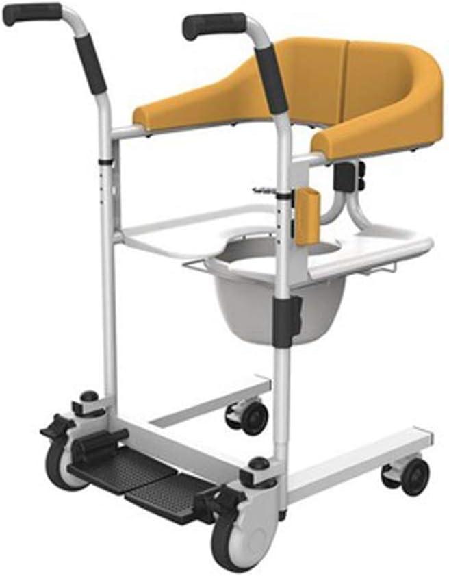 Antigüedad Walker plegable Roller ajustable mango, multifunción lift puede un baño con ayuda de WC tomar. Cuidado de andador para personas mayores de color naranja.