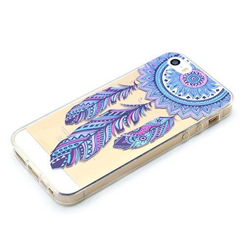 Für Apple iPhone 5 5G 5S / iPhone SE (4 Zoll) Hülle ZeWoo® TPU Schutzhülle Silikon Tasche Case Cover - MM061 / Windmühle