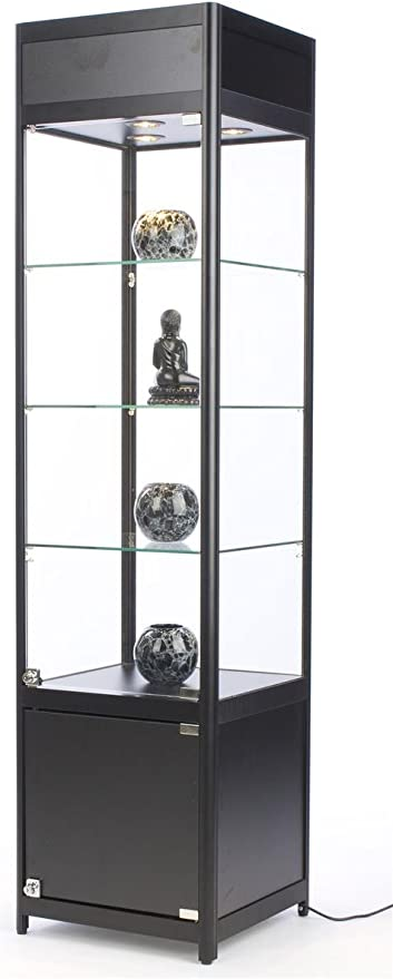 Amazon Com 72 Inch Glass Display Cabinet With 3 Adjustable