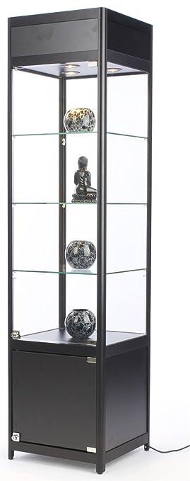 "Amazon.com: 72"" Tall Glass Display Cabinet with 3 Adjustable ..."