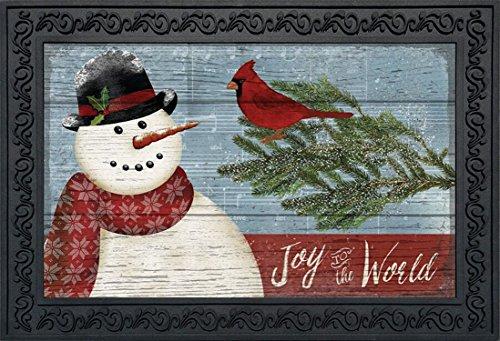 (Briarwood Lane Joy to The World Snowman Christmas Doormat Primitive Indoor Outdoor 18