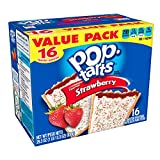 Pop-Tarts Breakfast Toaster Pastries, Frosted Strawberry Flavored, Value Pack, 29.3 oz (16 Count)