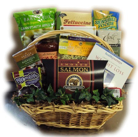Deluxe Healthy Dieter Healthy Gift Basket by Well Baskets