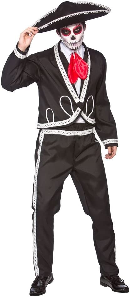 Deluxe Mariachi - Day Of The Dead - Adult Costume SMALL: Amazon.es ...