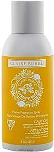 Claire Burke Room Spray Air Freshener, Sparkling Citron Verbena Scent 3 Ounces 1 ct.