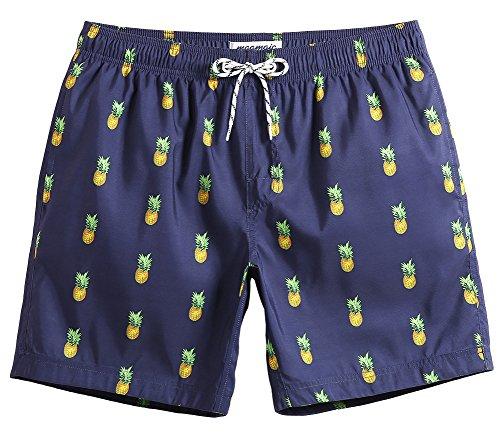 MaaMgic Mens Slim Fit Quick Dry Short Swim Trunks With Mesh - Mesh Swimwear Mens