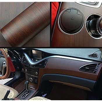 Moyishi Wood Grain Vinyl Sticker Decal Roll Car Interior Home Office Furniture DIY Film Wrap 30cmx100cm (Ebony Wood)