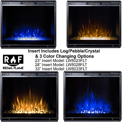 Regal Flame Flat Ventless Electric Fireplace Insert Better Wood Fireplaces, Gas Logs, Mounted, Log Sets, Space Ethanol, CHANGING