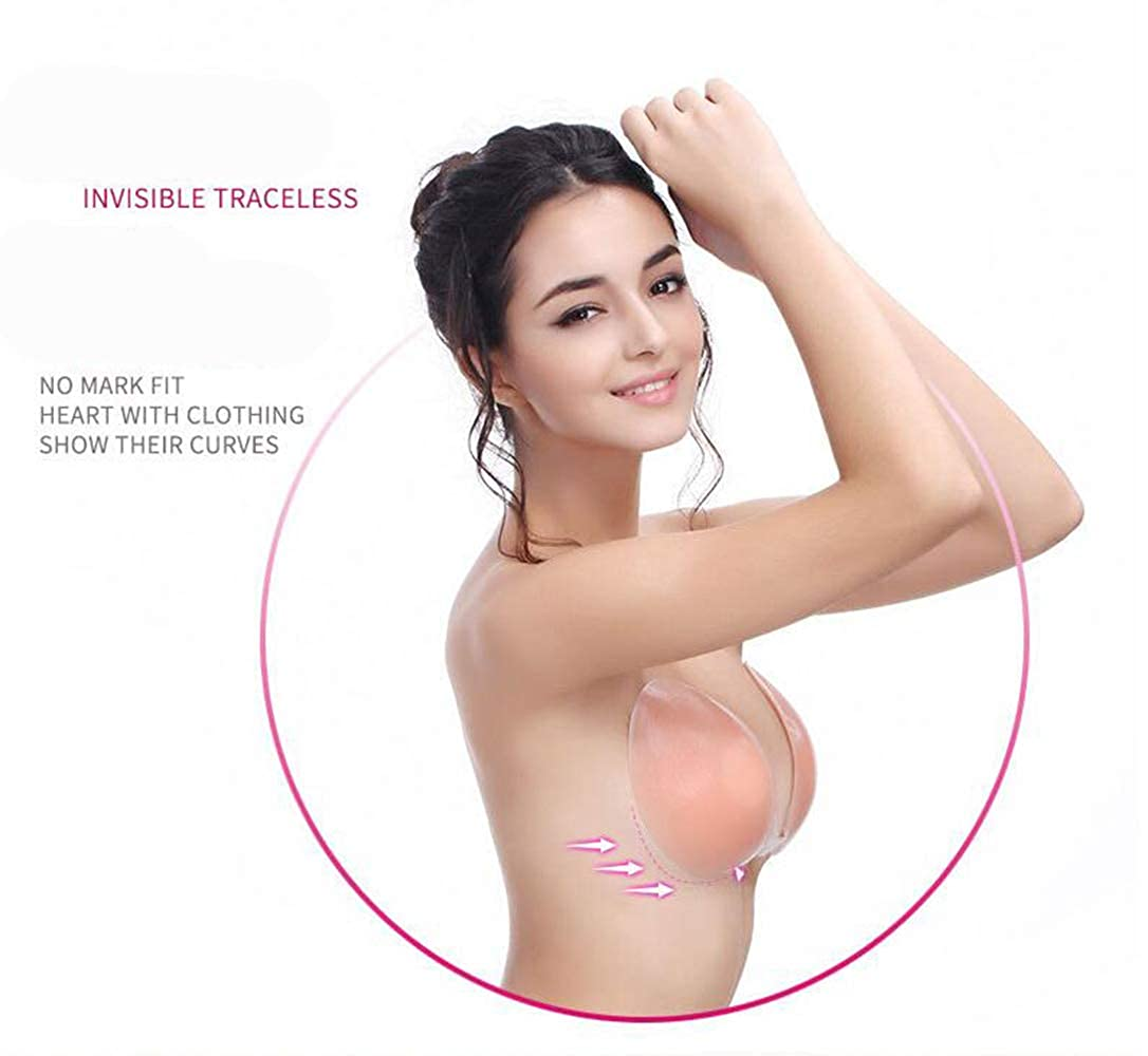 2ae0821e6a AVIGOR Sticky Bra Self Adhesive Silicone Bra Strapless Invisible Backless  Bras for Women (FBA