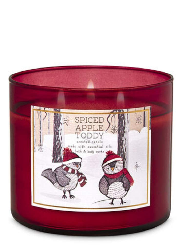 White Barn Bath and Body Works Spiced Apple Toddy Scented Candle 3 Wick 14.5OZ