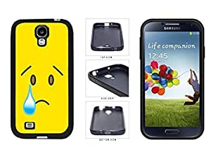 Bright in Yellow Sad with program Tear Face TPU RUBBER SILICONE life Phone Case trail Back Cover Samsung Galaxy S4 I9500