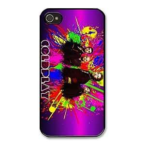 Coldplay P8L0BQ3B Caso funda iPhone 4 4s Caso funda del teléfono celular Negro