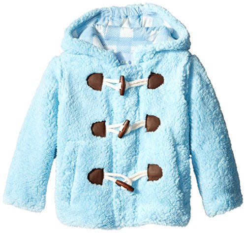 Wippette Little Boys' Wooly Fleece Toggle Coat, Blue, 4T by Wippette