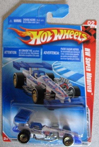 Hot Wheels 2010 HW Super Modified Car Race World Speedway 2/4 #168 WHITE