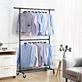 SONGMICS Industrial Style Clothes Garment Rack on