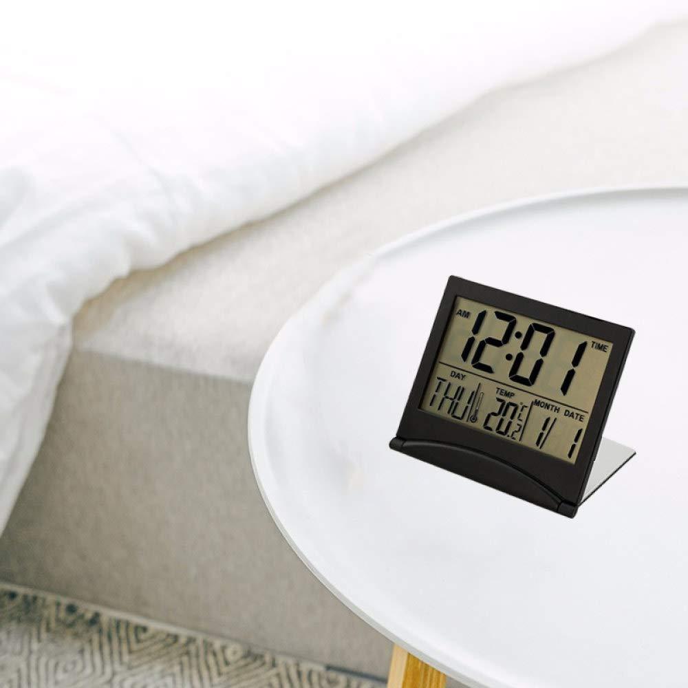 Noir NEEPP Calendrier Affichage R/éveil /Électronique Petit Fort Station M/ét/éo Num/érique Bureau Temp/érature Voyage Mini Horloge