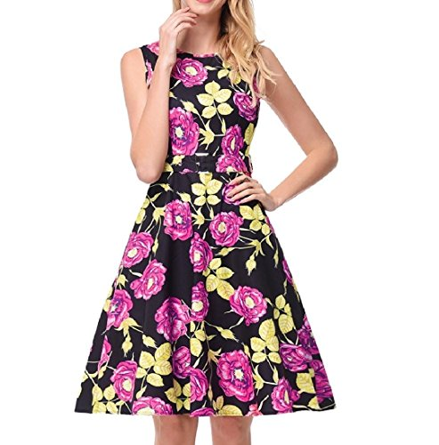 Coolred Women Dress Waist One Sexy Fitted Pleated A Pattern Printing Mini Line rrqw16